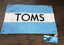 TOMS One for One Canvas Drawstring Shoe Travel Dust Bag  Flag and NWT