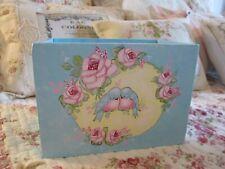 Shabby Chic Hand Painted Roses - Lovebirds Box