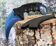 Blue Karambit Hawkbill Claw Dagger Military Tactical Survival Neck Knife