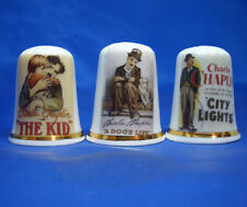 Birchcroft Thimbles -- Set of Three -- Charlie Chaplin Movie Posters