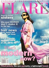 1995 Flare Fashion Magazine Toronto Canada Hair Style Vintage Ads 90s