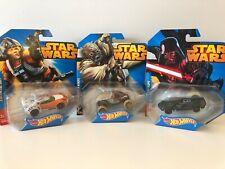 NEW Star Wars Hot Wheels - Disney - Darth Vader - Luke Skywalker - Tusken Raider