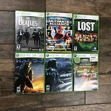 XBox 360 Game Lot of 6 Halo, Lost, Avatar, The Beatles, Forza 2 Marvel M26