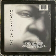 THE NOTORIOUS B.I.G. - DEDICATION (VINYL EP) 1999!!  RARE!!  BAHAMADIA + Q-TIP!!