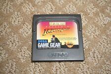 Indiana Jones Last Crusade (Sega Game Gear) Cart Only Great Shape