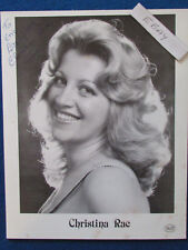 "HAND SIGNED - Christina Rae - 10""x8"" - Press Promo Photo Card - 1983"