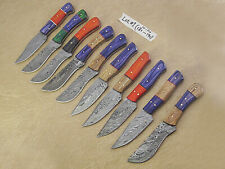 10 pieces Damascus steel skinning knives lot with Sheath, Damascus knife deal -1