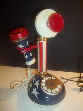 VINTAGE - 1973 STARS AND STRIPES CANDLESTICK TELEPHONE. Works