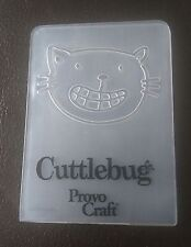 Cuttlebug Small Embossing Folder CAT FACE fits Sizzix Big Shot