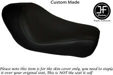BLACK AUTOMOTIVE VINYL CUSTOM FOR HARLEY SPORTSTER LOW IRON 883 SOLO SEAT COVER