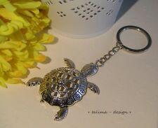 Schildkröte Schlüssel Anhänger aus Aventurin 40x30 Silber HS630