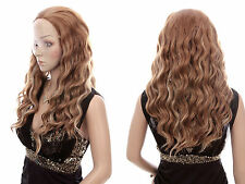 Gelockte Echthaar-Perücken & Haarteile in Hellbraun mit klassischer Kappe Kunst