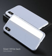 Magnetic Metal Frame Tempered Glass Back Case Cover for iPhone X 7 8 6 Plus Lot