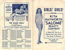 "Rita Hayworth ""Salome"" Beauty Contest,1953 / Original Vintage Promotional Flyer"