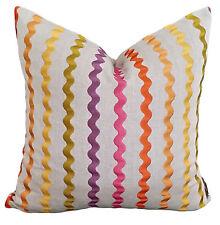 NEW Samba Blossom Designer Cushion Pillow Cover Stripe Pink Purple Citron Linen