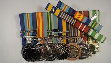 Set of 7 Vietnam long service medals + Ribbon Bar