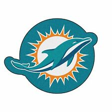 Miami Dolphins Mascot Decorative Logo Cut Area Rug Floor Mat