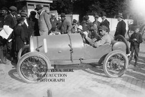 Bugatti factory racer Pierre Vizcaya 1920 French Grand Prix Le Mans racing photo