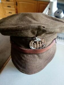 BRITISH AND EMPIRE WW1  SOFT TRENCH CAP ABOUT SIZE 7 SEE PICS