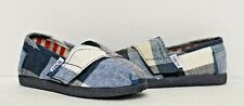 Toms Tiny Classics Blue Plaid Baby Shoes 013118D11|Blue Toddlers 6.5 & 10.5 Only