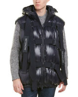 Moncler Mens  X Craig Green Buckle Strap Quilted Down Vest, 3, Blue