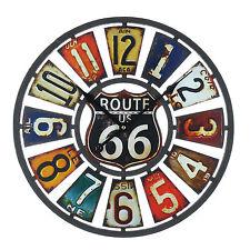 ROUTE 66 USA ART DECO / RETRO DESIGN WALL CLOCK. NEW & BOXED.40CM