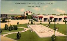SAN ANTONIO, Texas  TX   Roadside  GABLE LODGES  ca  1950s Linen   Postcard
