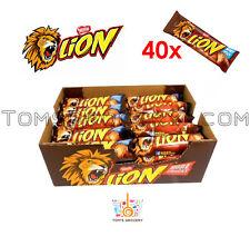 FULL BOX 40 Units Nestle LION Crisp & Creamy Chocolate Cereal Bars 40x 42g