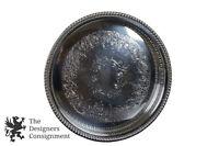 "Webster Wilcox International Silverplate Pierced Tray 12"" Brandon Hall 7676"
