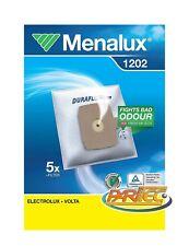 Menalux 1202 Sacchetto Microfibra Carrello Electrolux Volta 5pz + 1 micro filtro