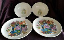 Vintage Boonton Ware - 2 Bowls, 2 Plates, Melmac Melamine 8202-8 & 8209-12