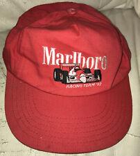 MARLBORO RACING TEAM 1992 VINTAGE RED SNAPBACK HAT CAP - See Description