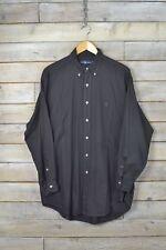 Vintage Ralph Lauren Negro Camisa Polo Simple (L)