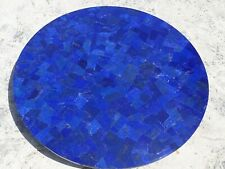 18 Inch Marble Side Table Top Coffee Table Lapis Lazuli with Mosaic Art 10DEV472