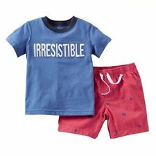 New Boys Carters IRRESISTIBLE Short Outfit Size 12 Months