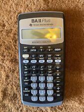 Texas Instruments Ba ii Plus Business Analyst Financial Calculator Working