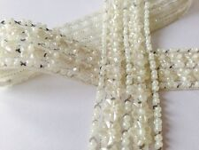 1yard Ivory Pearl Beaded Applique Trim Bridal Costume accessory/cake decoration