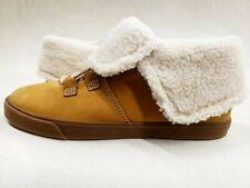 Timberland Women's fur fold top booties Nubuck Sample Size 7 wheat nubuck