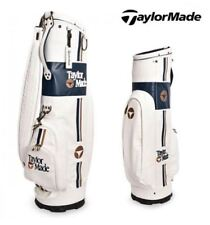 TAYLORMADE Classic White Golf Caddy Bag Tour Carry Cart  B78769 Authentic n_o