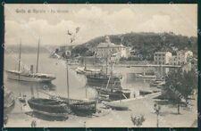La Spezia Porto Venere Le Grazie Barche cartolina QZ7467