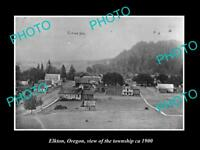 OLD LARGE HISTORIC PHOTO OF ELKTON OREGON, VIEW OF THE TOWNSHIP c1900