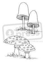A7 'Two Mushrooms' Unmounted Rubber Stamp (SP00000416)