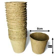 Saattöpfe Aufzuchttöpfe Plant Pots Cultivation Pots Organic Abbaubare 3 1/8in