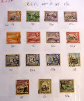 LOT OF 15 OLD CYPRUS STAMPS, KGVI SG151-160, MOSTLY F/U