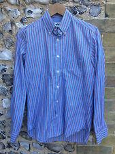 Vintage Barbour chemise rayée Smart Casual travail Haut petites manches longues S