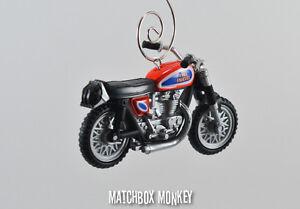 Evel Knievel Triumph Bonneville T120 Caesar's Palace Motorcycle Bike Ornament