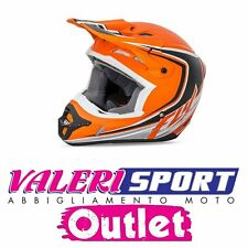 FLY Casco Super cross Helmet KINETIC FULL SPEED ARANCIO Honda Yamaha Ktm OFFERTA