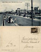 Lido di Roma(ostia), roma, viale della marina di Roma, animata viagg.1933