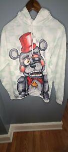 Five Nights at Freddys Kids Hoodie K-XL Lefty FNAF Pullover Hood White LN