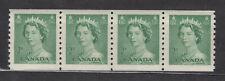 1953 #331 2¢ QUEEN ELIZABETH II KARSH PORTRAIT ISSUE COILS STRIP OF 4 F-VFNH
